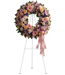 Graceful Wreath from Metropolitan Plant & Flower Exchange, local NJ florist